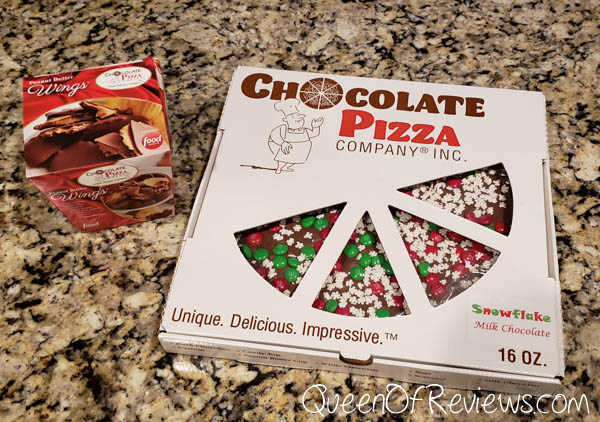 SNOWFLAKE CHOCOLATE PIZZA and Peanut Butter Wings