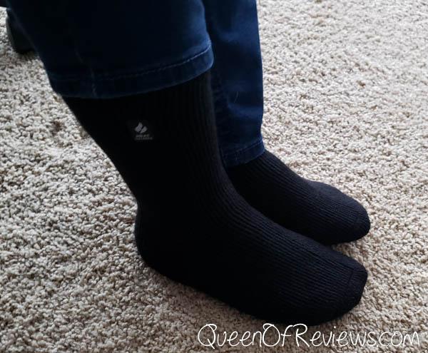 Wearing Heat Holders Socks