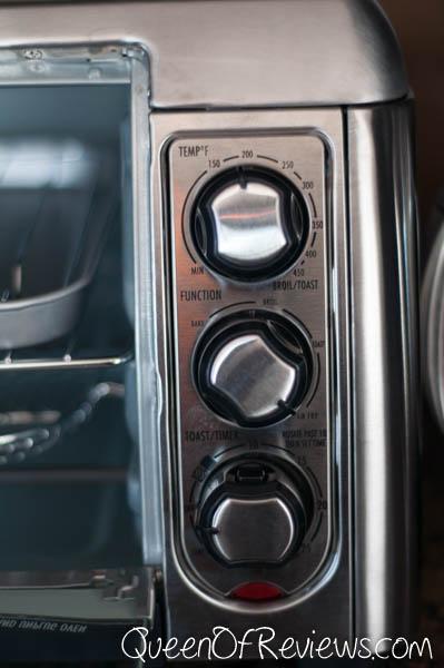 Hamilton Beach Sure-Crisp Air Fry Toaster Oven Controls