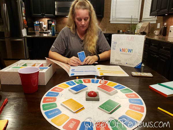 Playing kNOW! Family Board Game,